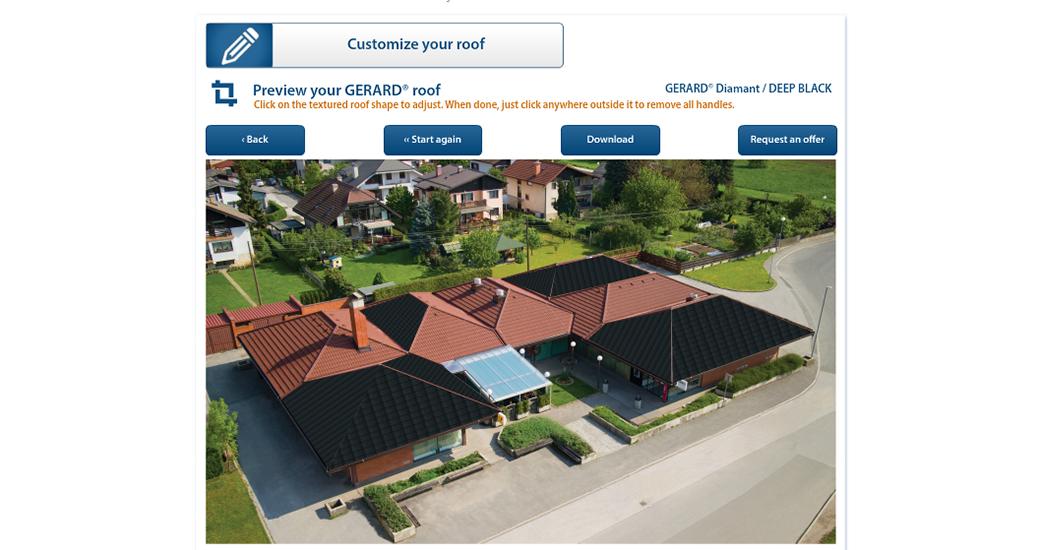 Sehen Sie, wie Ihr Haus mit dem GERARD-Dach aussehen wird