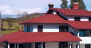 Rote Dacheindeckung von Gerard