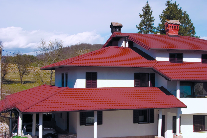 Rote Dacheindeckung Gerard